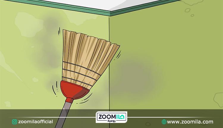 تمیزکردن دیوار منزل