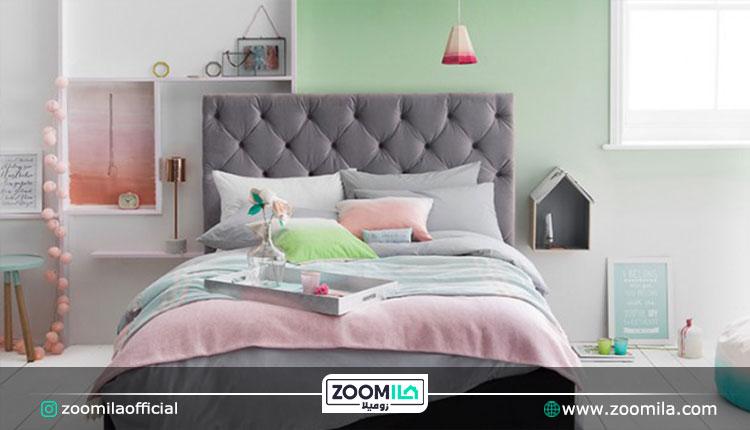 رنگ پاستیلی در اتاق خواب