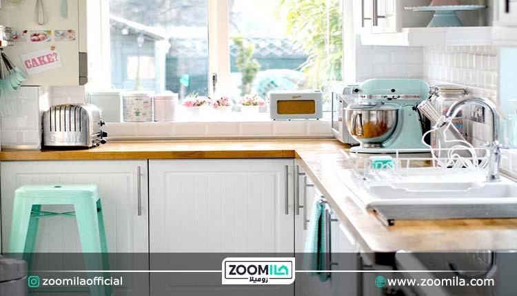 رنگ پاستیلی در آشپزخانه