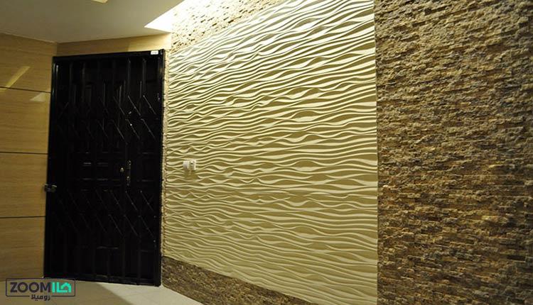 دیوارپوش سه بعدی در راهرو