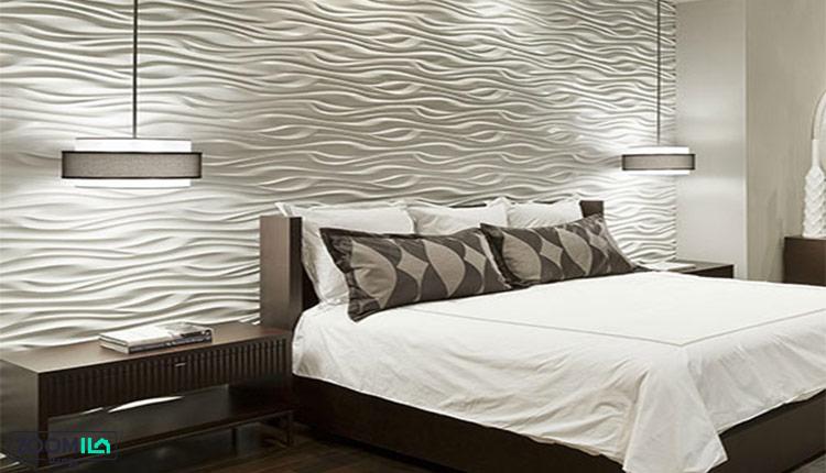 دیوارپوش پی وی سی در اتاق خواب