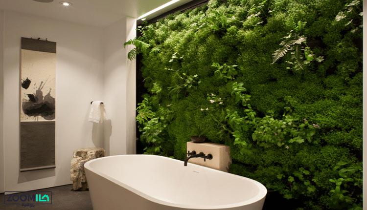 ساخت دیوار سبز در حمام