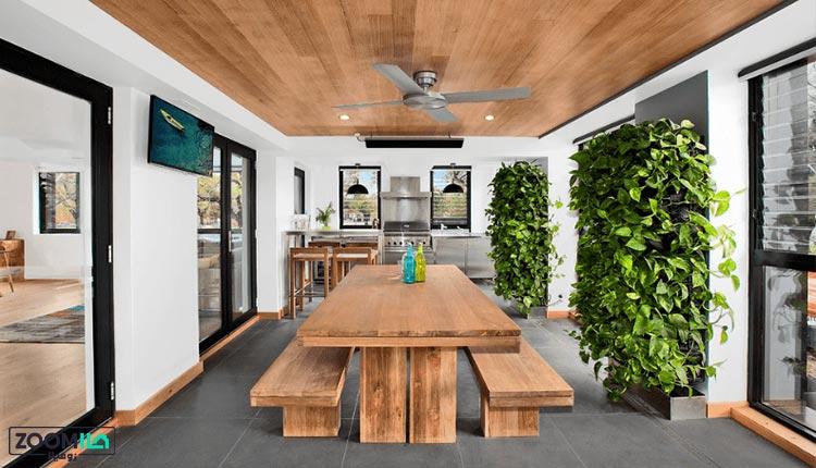 دیوار سبز در غذاخوری