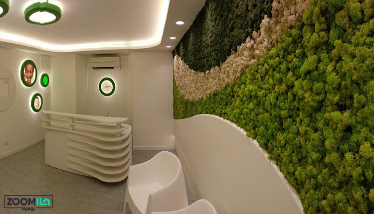 دیوار سبز خزه ای جدید