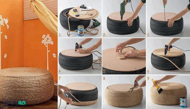 ساختن پاف مبل در سه سوت