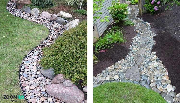 دیزاین سنگی باغچه