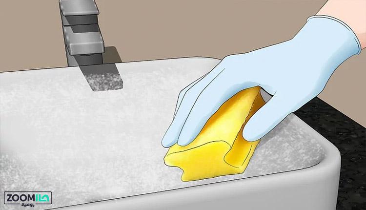 معجزه جوش شیرین برای تمیز کردن سینک