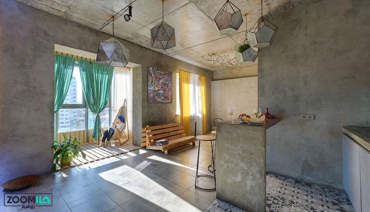 خانه ایرانی مدرن با بتن
