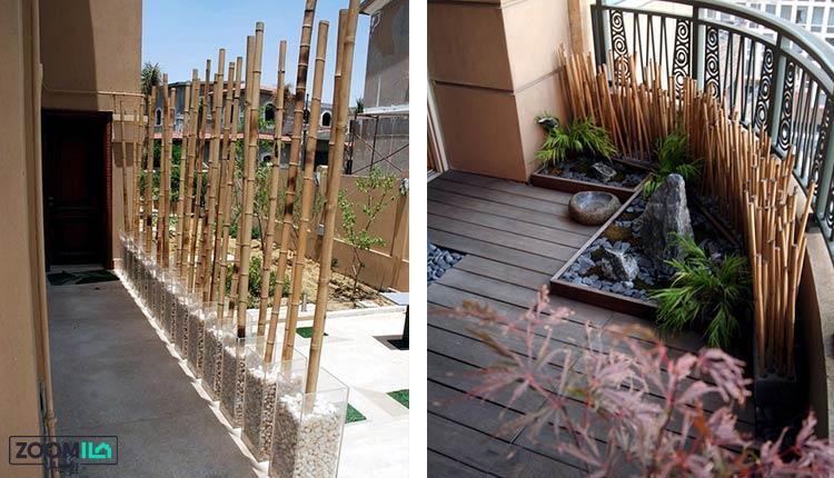 کاربرد چوب بامبو در فضای باز