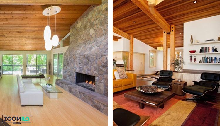 چوب بامبو در سقف