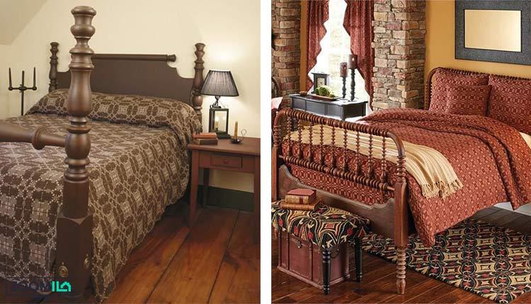 اتاق خواب به سبک شیکر کلاسیک