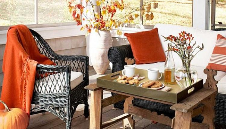 دکوراسیون پاییزی برای بالکن خانه