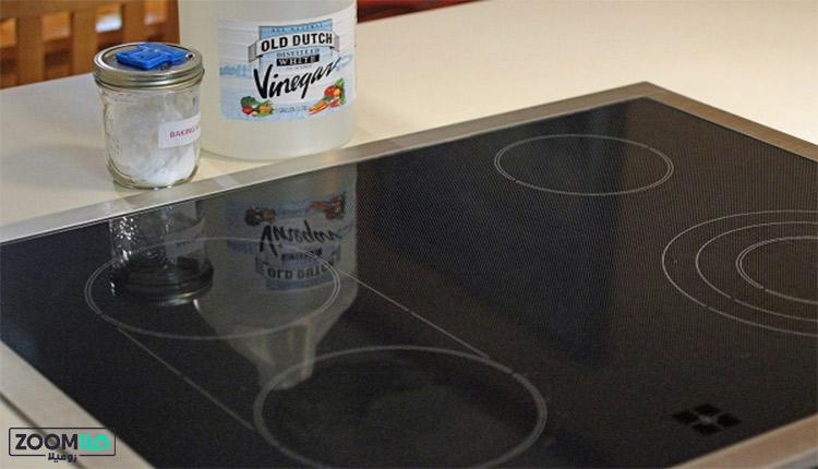 تمیز کردن اجاق گاز شیشه ای