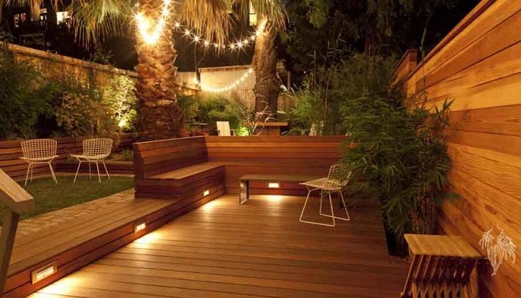نورپردازی حیاط خانه
