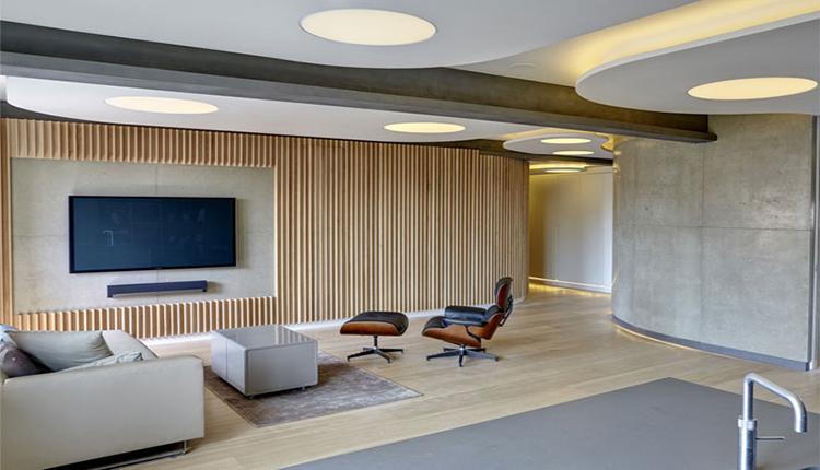 جدیدترین طراحی دیوار پشت تلویزیون با چوب