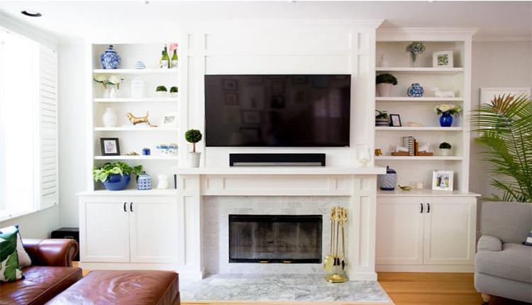 نصب تلویزیون روی شومینه