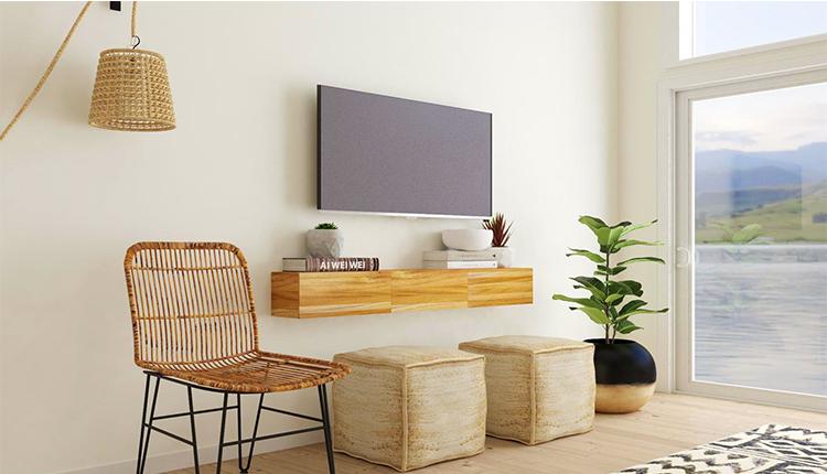 نصب تلویزیون و میز تلویزیون روی دیوار