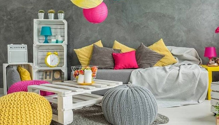 رنگ پنتون زرد و خاکستری 2021 در دکوراسیون منزل