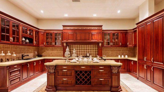 کابینت-آشپزخانه-تمام-چوب